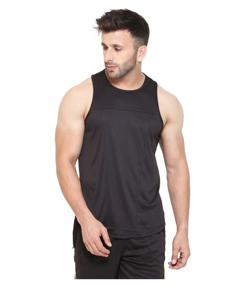 CHKOKKO Sleeveless Solid Gym and Sportswear Tank Tops Sports T Shirt or Vests for Men