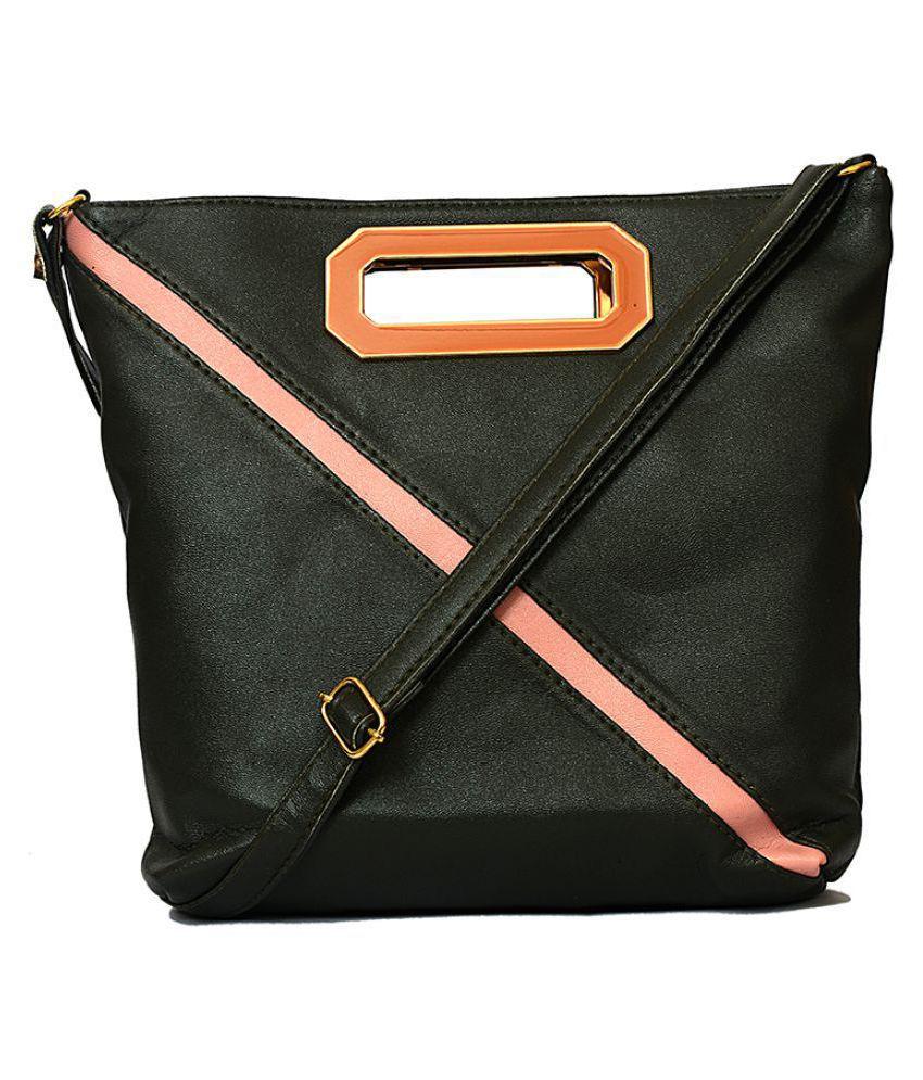 Rish Lifestyles Black P.U. Sling Bag