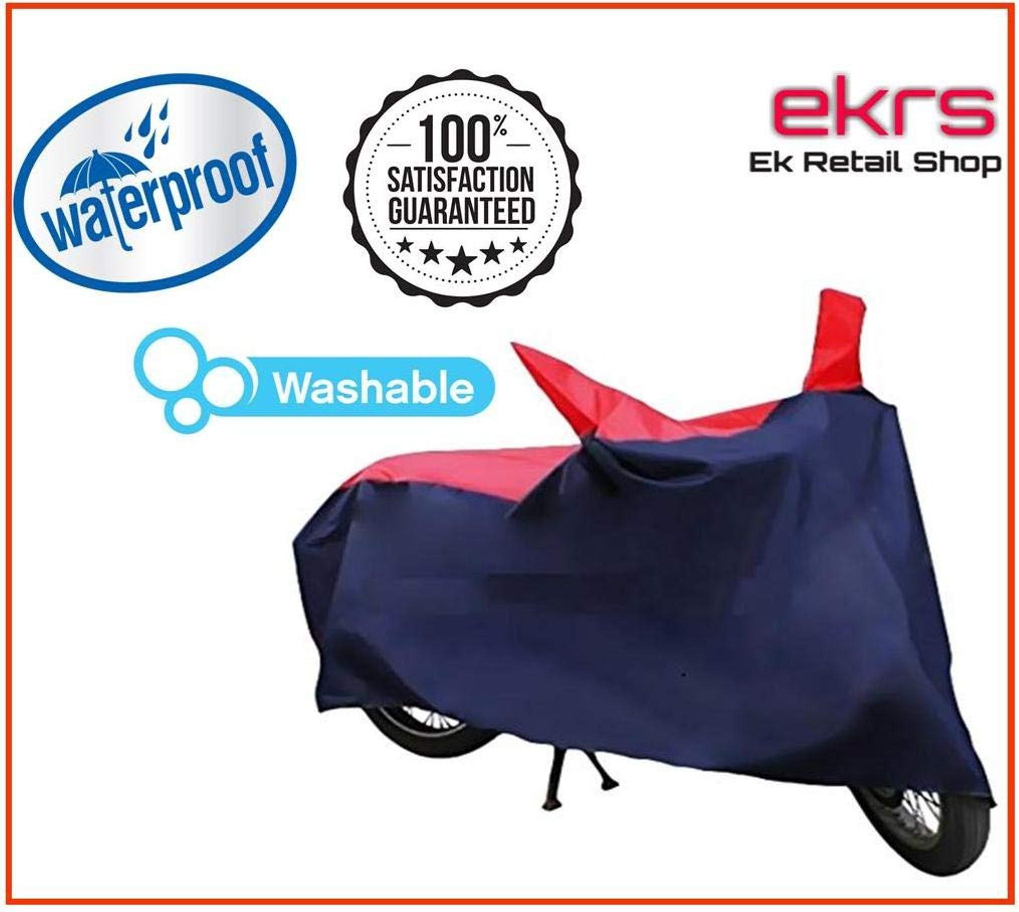 Ek Retail Shop Silver Matty Waterproof Bike Body Cover for Hero Splendor Pro(Black Alloy)