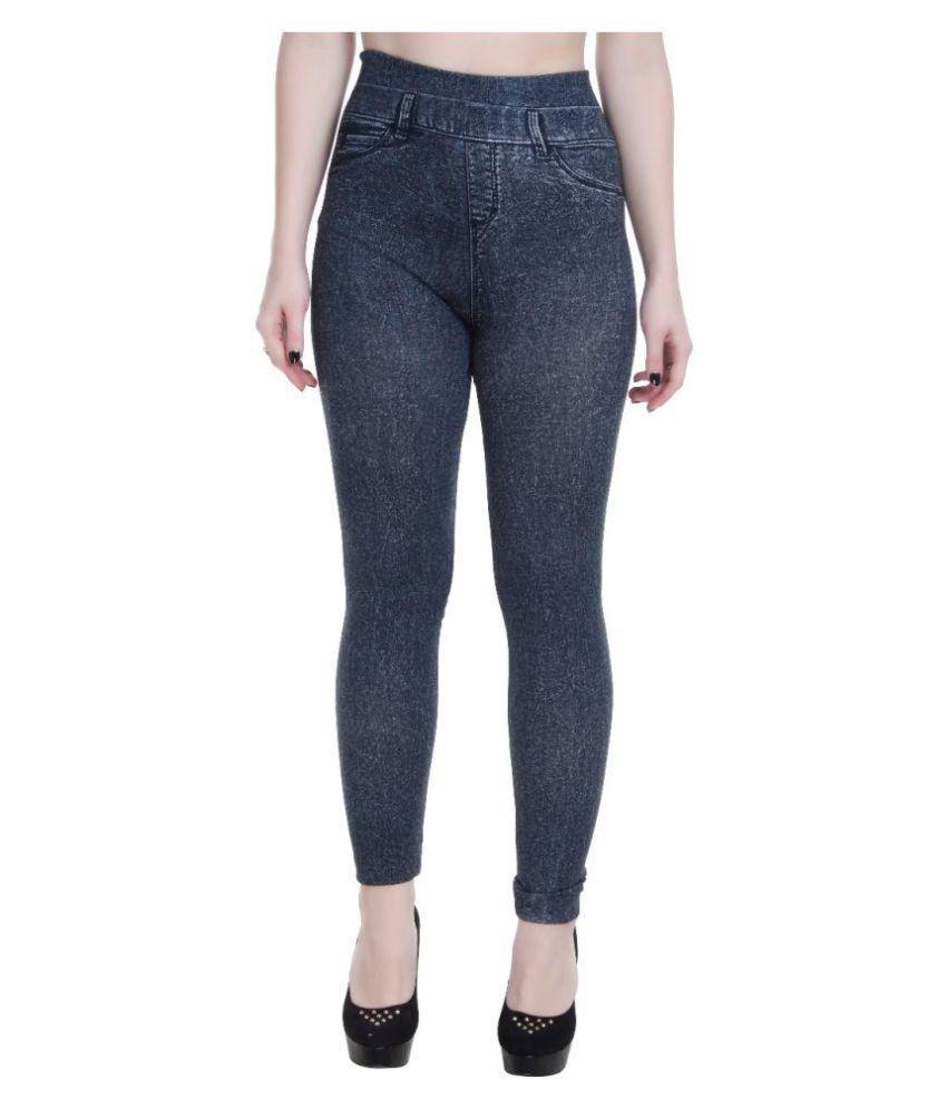 SFH Leggings Cotton Lycra Jeans - Black