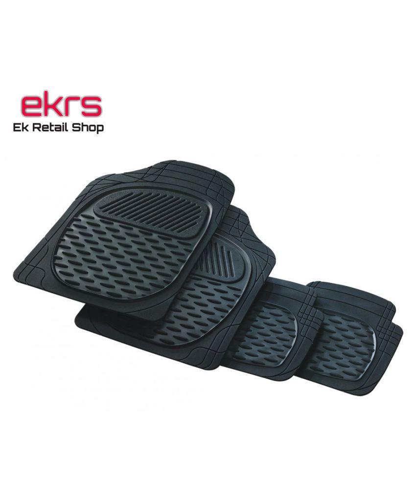 Ek Retail Shop Car Floor Mats (Black) Set of 4 for TataIndigoeCSGLS