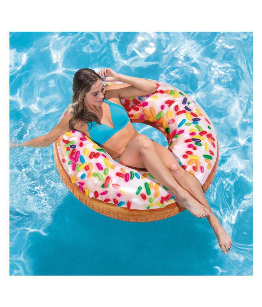 Rainbow Sprinkle Inflatable Donut Tube / Ring (SIZE: 45