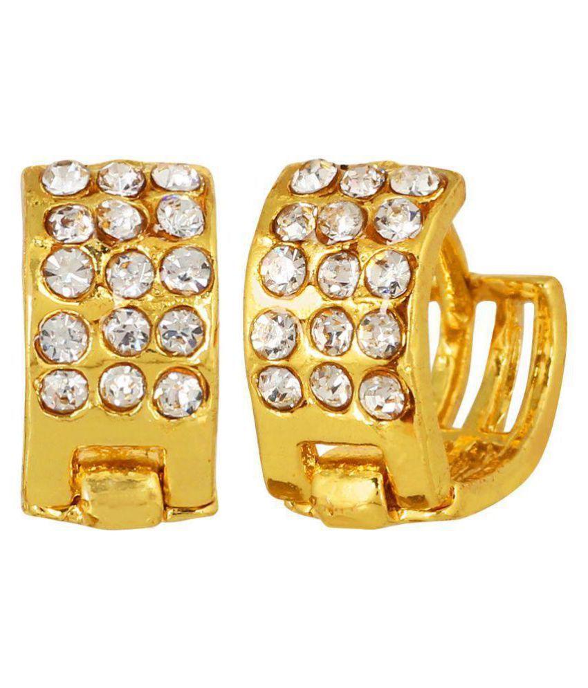 GoldPlated Hooped Cutwork Earrings by GoldNera