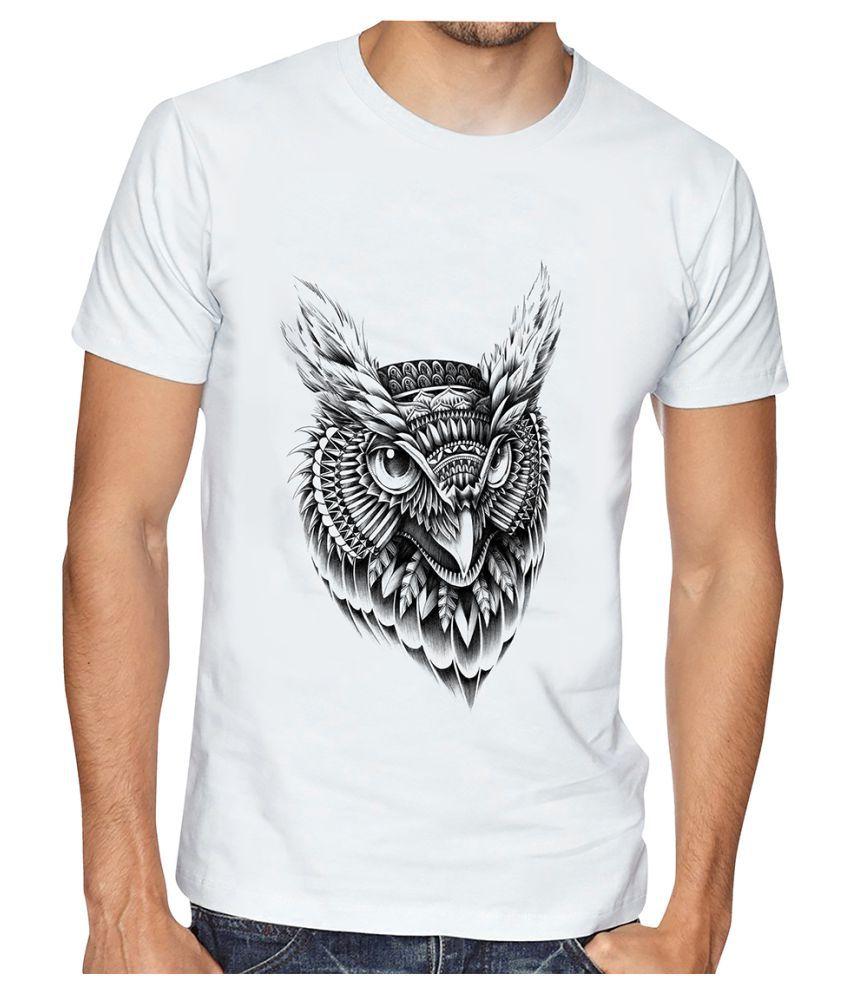 Casotec White Half Sleeve T-Shirt Pack of 1