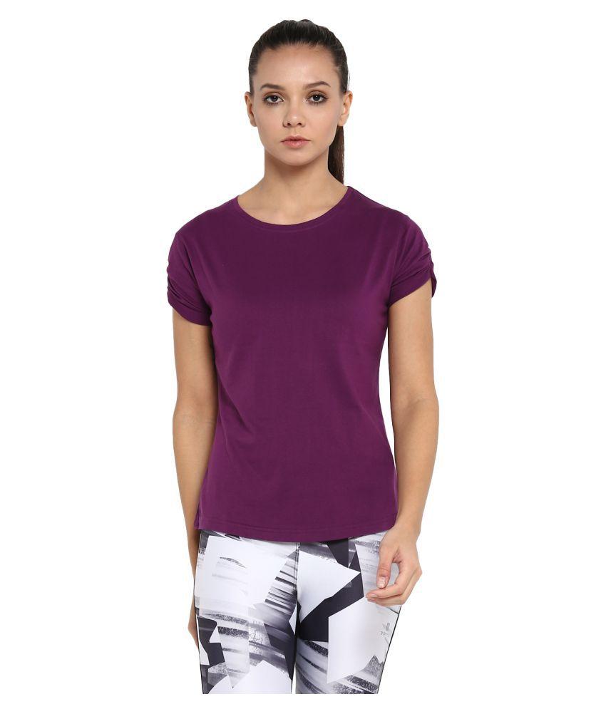 Ap'pulse Cotton Purple T-Shirts