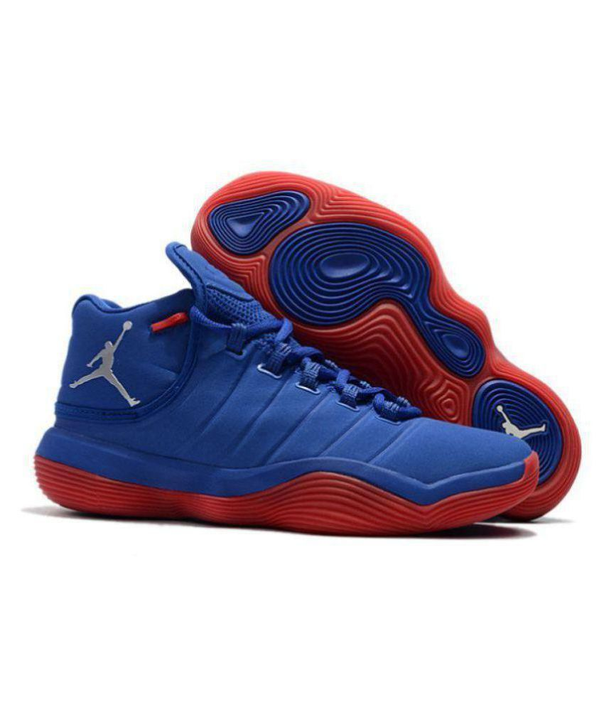 e8d6ad6ed8c Nike Jordan Super.Fly 2017 Blue Red Midankle Male Blue: Buy Online at Best  Price on Snapdeal