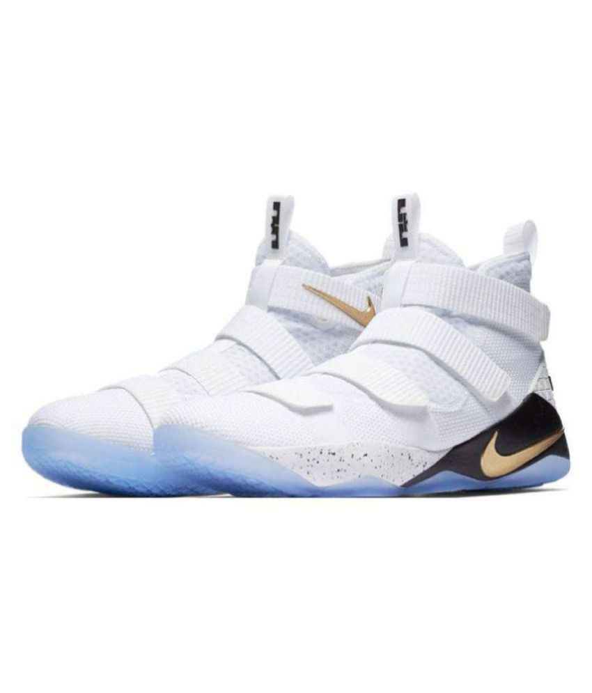 release date: 448d1 1c169 Nike Lebron Soldier 11 White Midankle Male White  Buy Online at Best Price  on Snapdeal