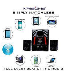 Krisons Jazz 2.1 Sound box Multimedia Speakers Black