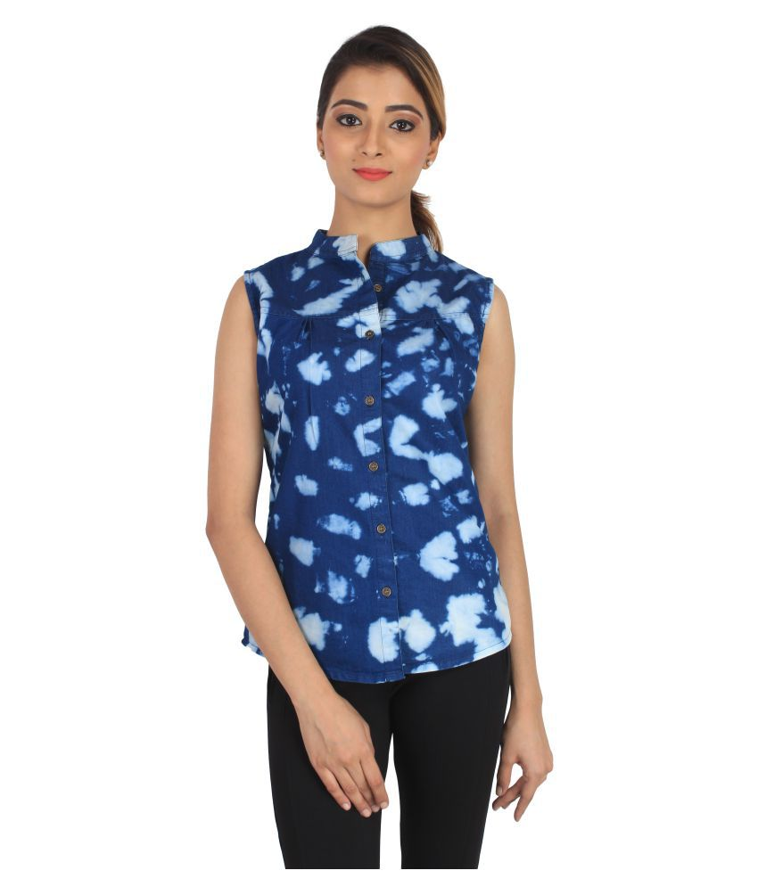 f59b106a4a1170 BuyDifferent Denim Regular Tops - Blue - Buy BuyDifferent Denim Regular Tops  - Blue Online at Best Prices in India on Snapdeal