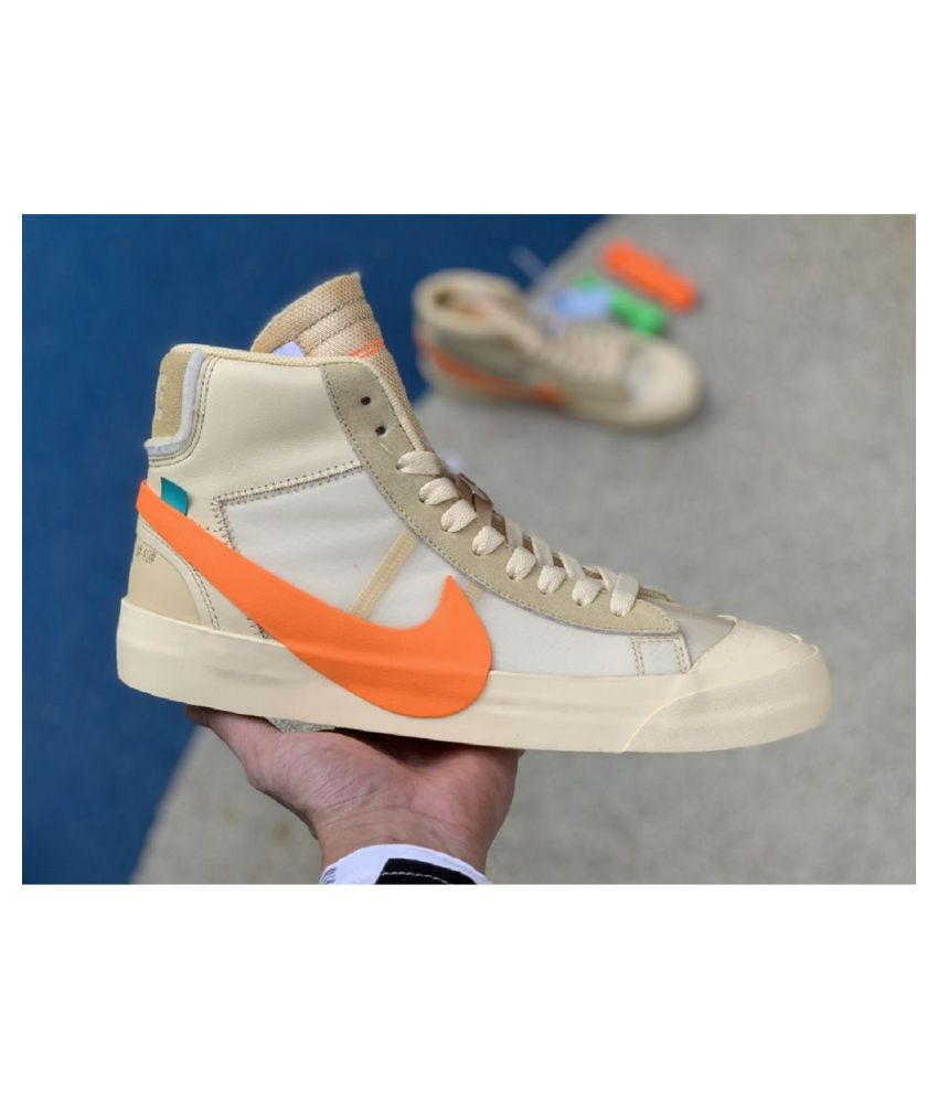 Nike Blazer Mid OffWhite All Hallow's Brown Running Shoes ...