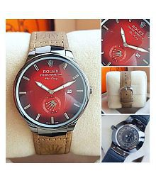 Shop in Style Leather Analog Men's Watch
