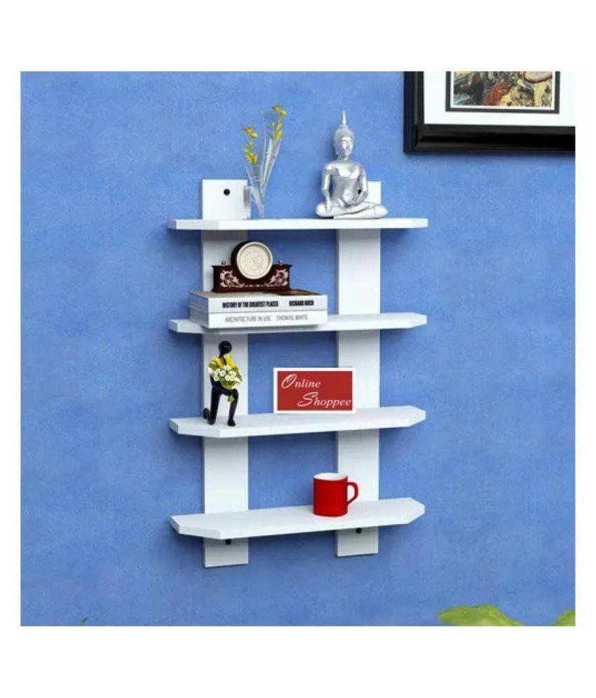 Onlineshoppee Floating Shelves White MDF - Pack of 1