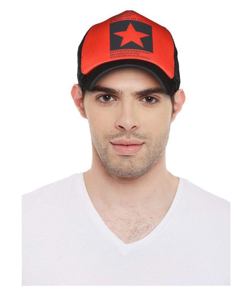 Drunken Red Black Cap for boys and cap for girls