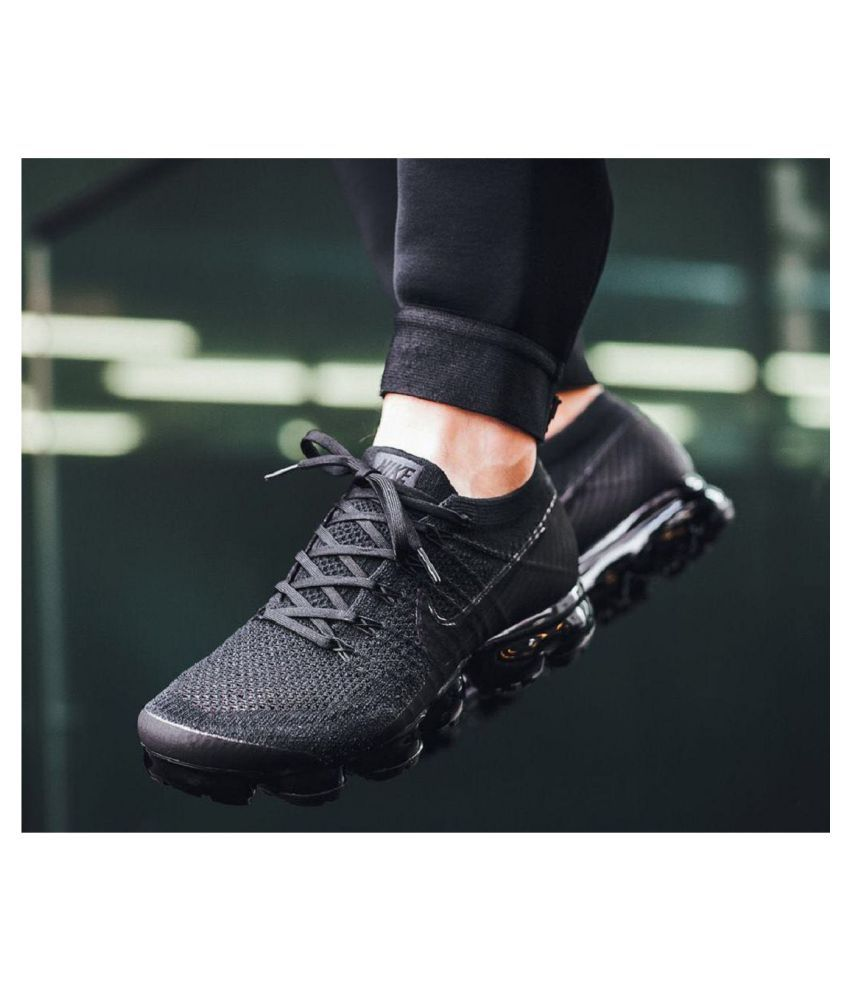 d6884c76f2f5 Nike Air Vapormax Flyknit Black Running Shoes - Buy Nike Air Vapormax  Flyknit Black Running Shoes Online at Best Prices in India on Snapdeal