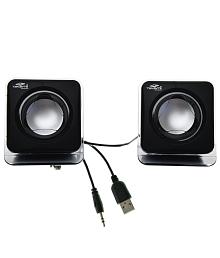 Terabyte E-02B 2.0 Multimedia Speakers for Laptop, PC, Mobiles& MP3/MP4 - Black