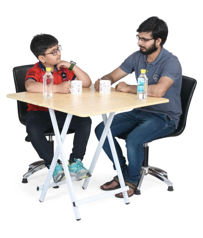 cubix study table wooden desk metal legs lightweight foldable rh snapdeal com