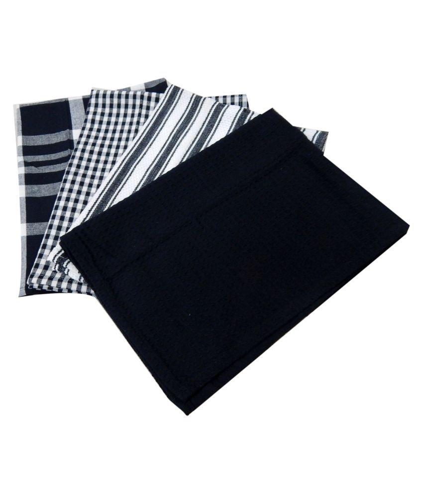 URBAN-TRENDZ Set of 4 45x66 Cotton Kitchen Towel