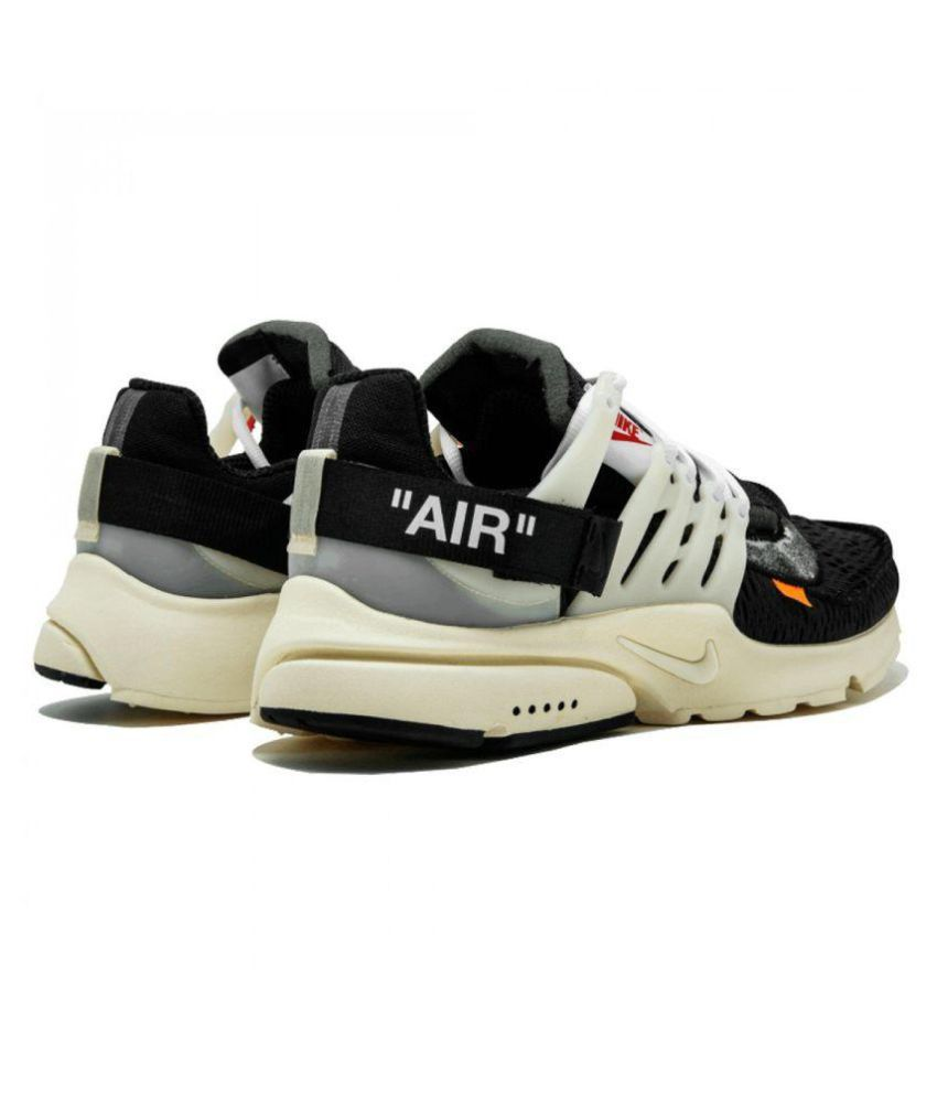huge selection of 8b83e e2f86 ... Nike 2019 Air Presto OFF-WHITE Blk- Gold Running Shoes ...