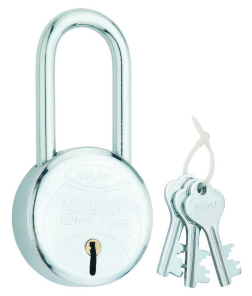 Steel Padlock, 8 lever, 3 CP Keys long shackle with 65 mm (RP65L) pack of 5 pcs.
