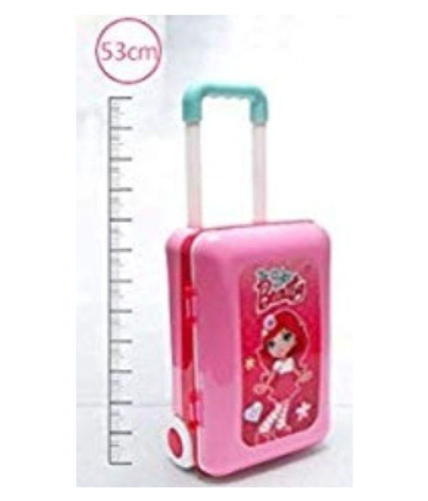 size 40 61dd9 43bd3 By AkritiEnterprises Play Makeup Toy Set Beauty Princess Dressing Table and  Suitcase 2 in 1 Gift for Girls Kids Children, Pink
