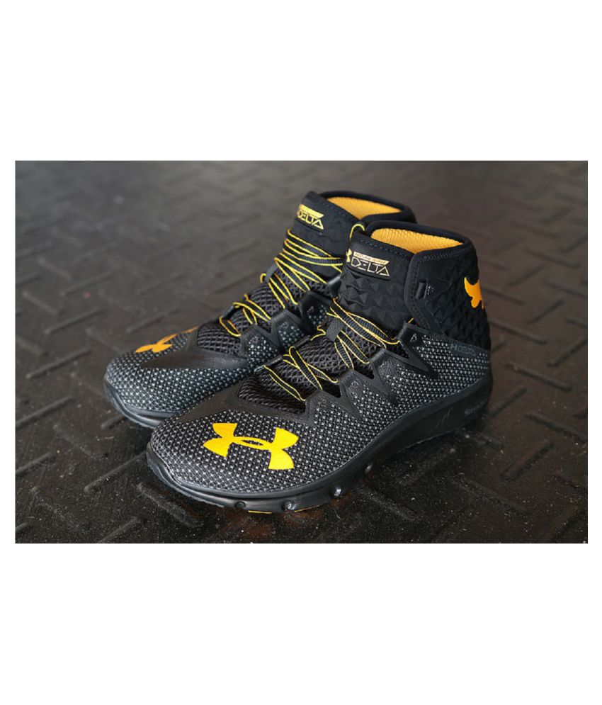 pretty nice 2fb4c 68e52 Under Armour Project Rock Delta Black Running Shoes - Buy Under Armour  Project Rock Delta Black Running Shoes Online at Best Prices in India on  Snapdeal