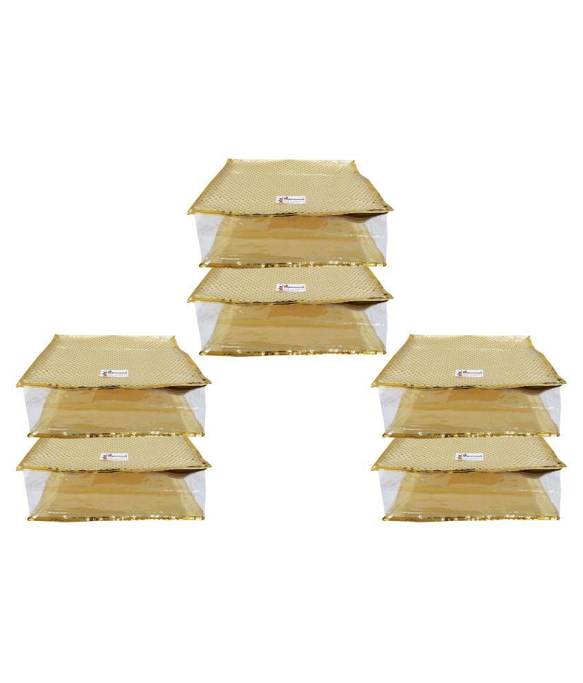 Shree Shyam Products Gold Saree Covers - 6 Pcs