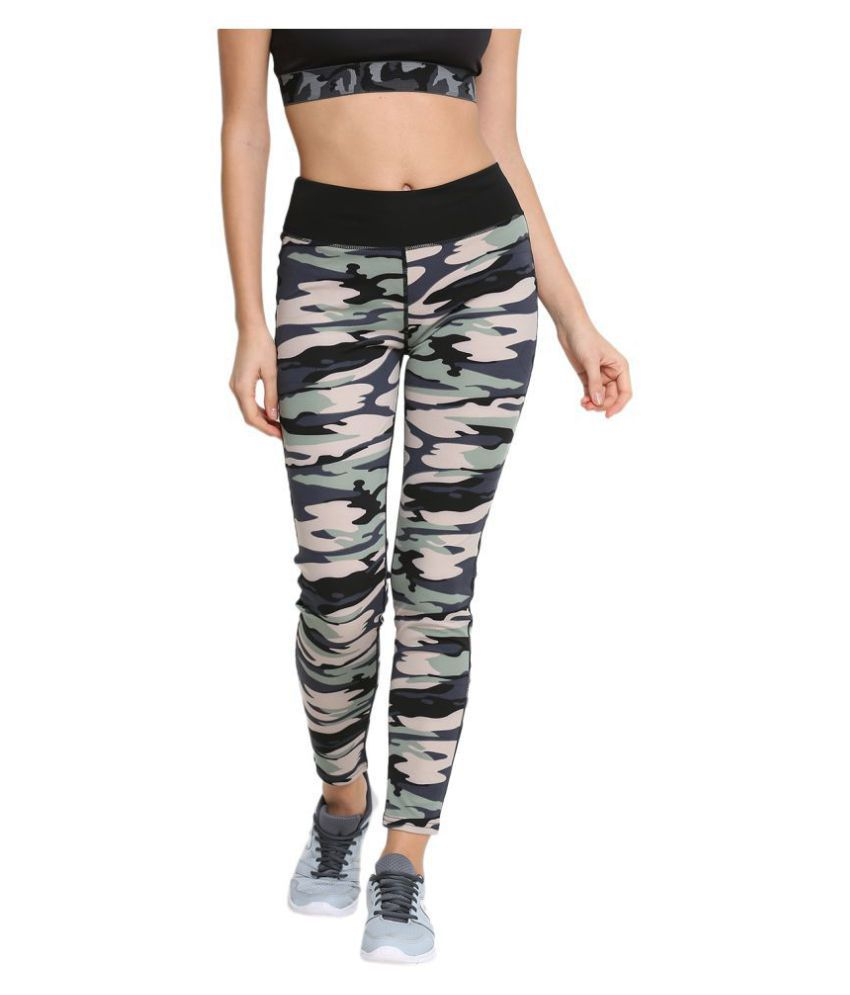 CHKOKKO Solid Casual Designer Camouflage Yoga Sports Stretchable High Waist Track Yoga Pant and Leggings for women For Gym Wear