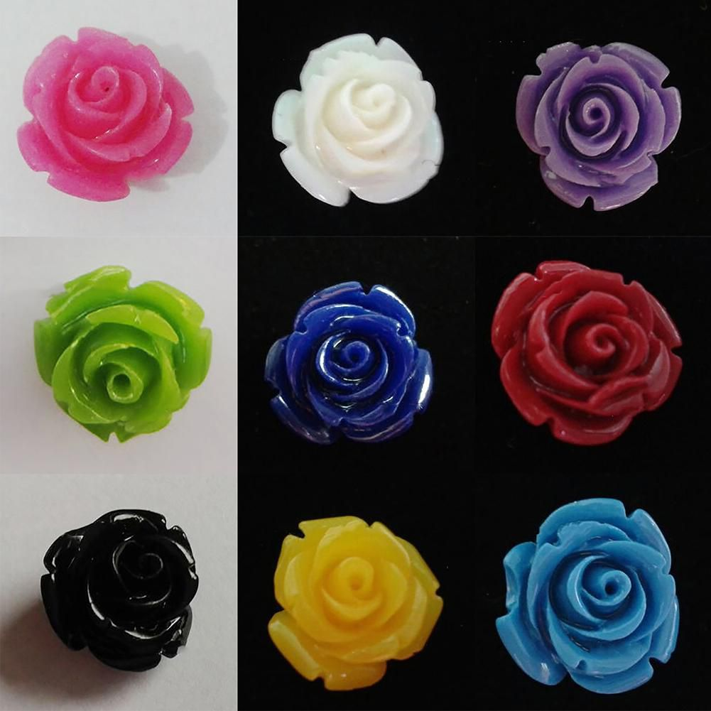 20 Pcs Gorgeous Rose Flower Spacer Beads Findings for Jewelry Making DIY Craft Fashion Jewellery