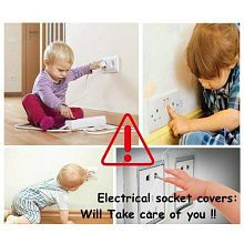 Unique Child Proofing Electrical Socket Cover/Guards White - Pack of 10