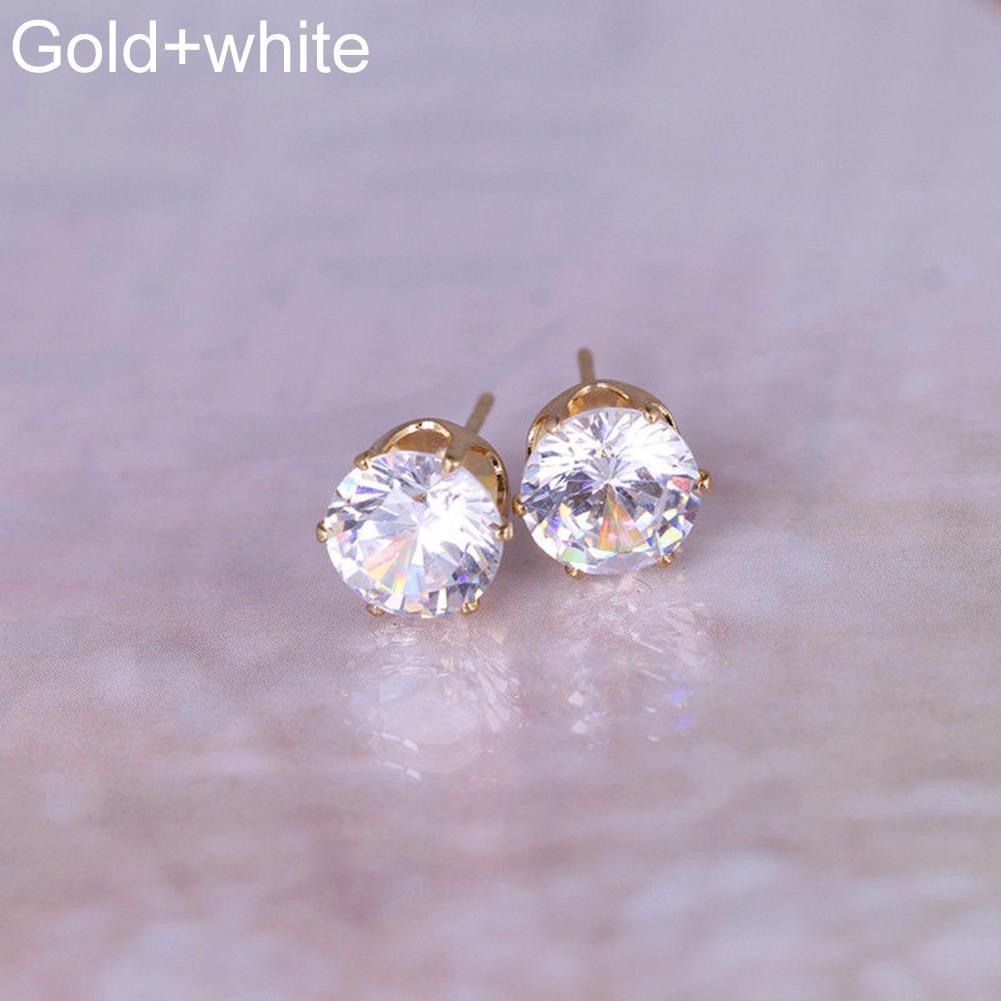 Women Fashion Jewelry Elegant Cubic Zirconia CZ Ear Stud Earrings Wedding Gift Fashion Jewellery