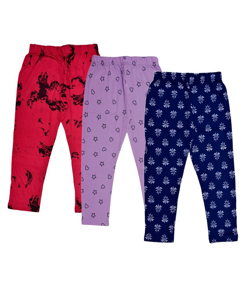 ded40e3abfb8e KAYU Girls Cotton Printed 3/4th Pants Capri (Pack of 3) - Buy KAYU Girls  Cotton Printed 3/4th Pants Capri (Pack of 3) Online at Low Price - Snapdeal