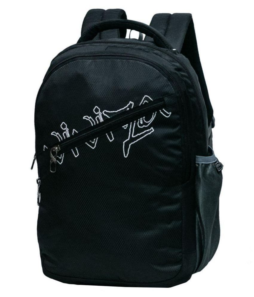 1901c70cefe Viviza Black Polyester College Bag - Buy Viviza Black Polyester College Bag  Online at Best Prices in India on Snapdeal
