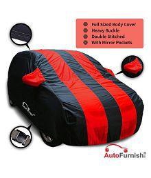 Autofurnish Car Body Cover Stylish Red Stripe For Hyundai i10 - Arc Blue