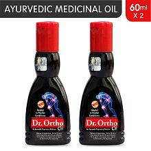 Dr Ortho Oil 60 ml, Pack of 2 (Ayurvedic Medicine, Helpful in Joint Pain, Back Pain, Knee Pain, Leg Pain, Shoulder Pain, Wrist Pain, Neck Pain, Ankle Pain)