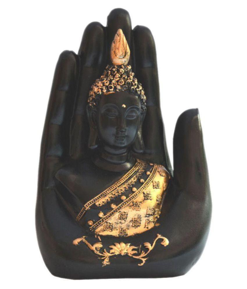 FSN Black Polyresin Handicraft Showpiece - Pack of 1