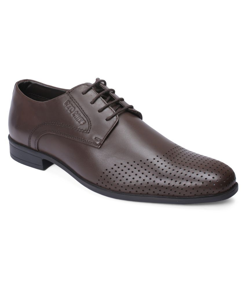 Red Chief Derby Genuine Leather Brown Formal Shoes