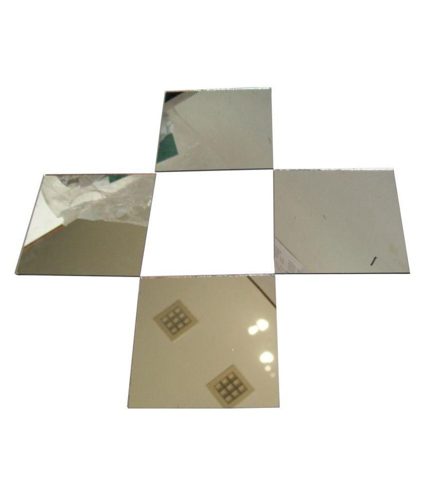 Decorative Reflective Squares (Pack of 25, Each Piece Size 3 inch) Mirrors for Living Rooms, Home or Office Wall