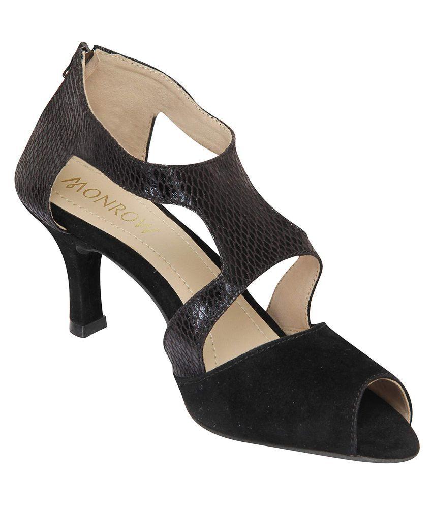 Monrow Black Stiletto Heels