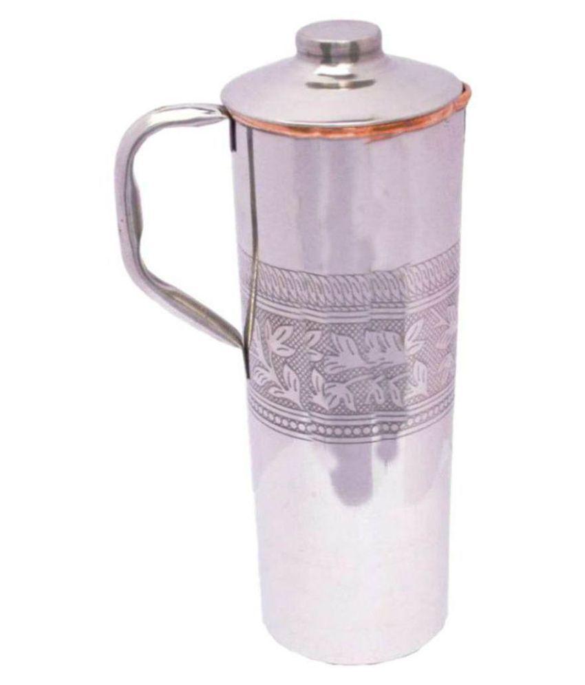 7fb830f5d17 m u life style FRIDGE BOTTLE Multicolour 1000 ml Steel Copper Fridge Bottle  Set of 1  Buy Online at Best Price in India - Snapdeal