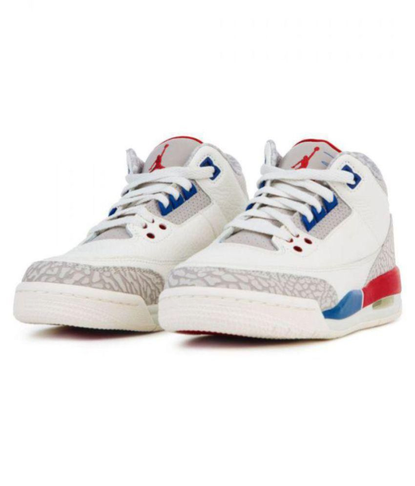 72659e5ad22df2 Nike Nike Air Jordan 3 Retro White Multi Midankle Male White  Buy ...