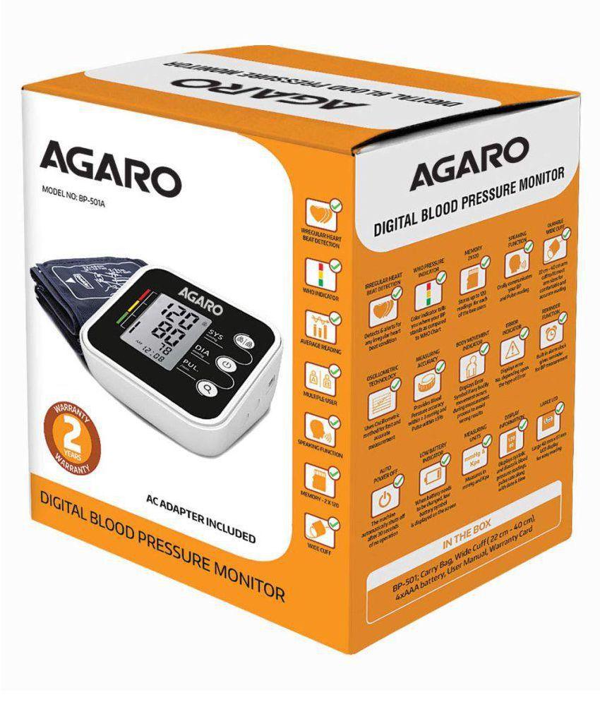 Agaro BP-501 Agaro Automatic Digital Blood Pressure Monitor