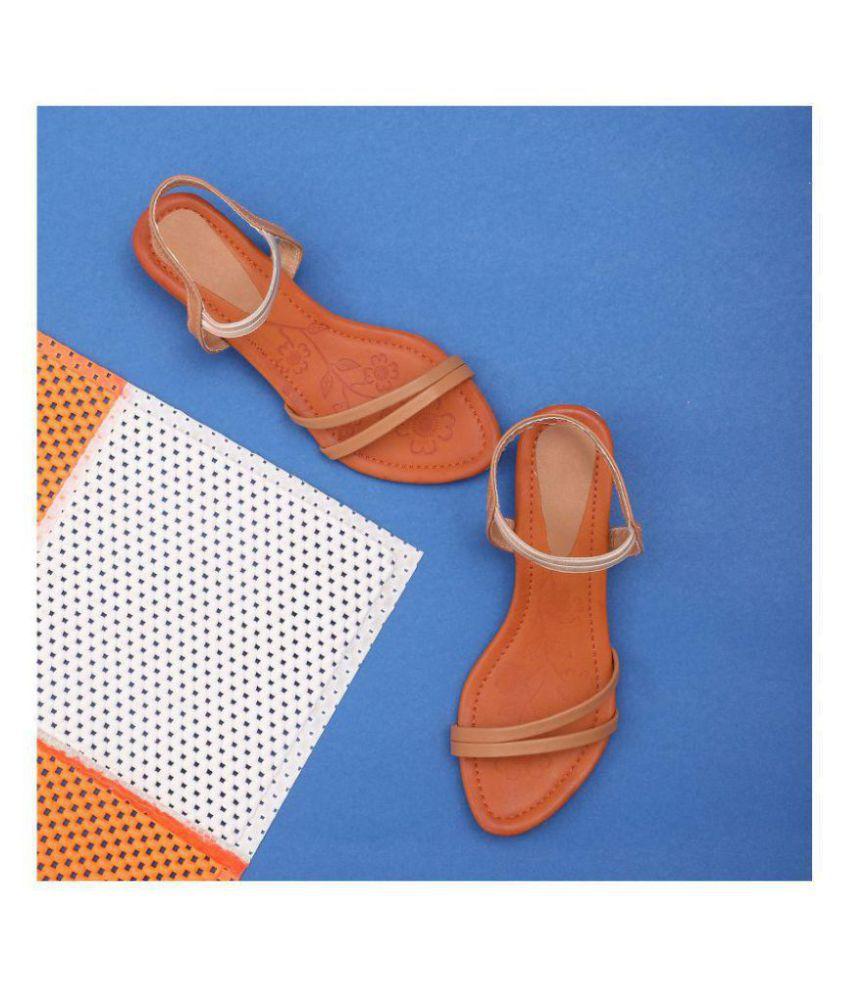 Sindhi Footwear Beige Kitten Heels