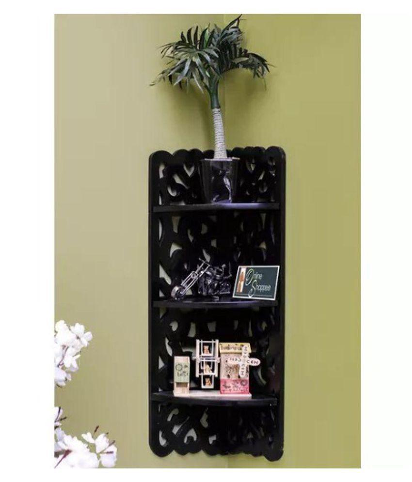 Onlineshoppee MDF Tres Niveles Wall Decor Rack Shelf