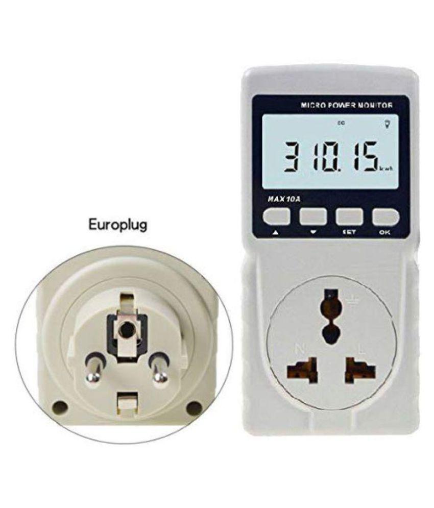 Techtest Power Monitor Meter For Home Plug Consumption Electricity Socket  Gm86 Energy Watt 220v Digital Lcd Display Frequency Ammeter Voltmeter