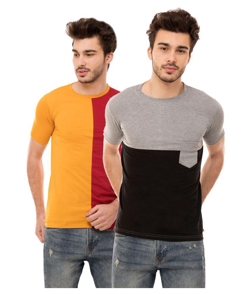 Ample Multi Half Sleeve T-Shirt Pack of 2