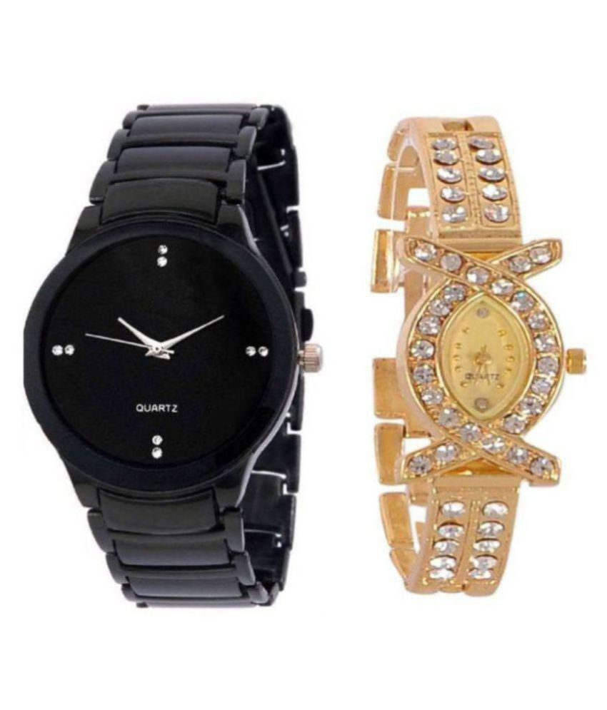New Collection Of Gold And Black Combination For Couple