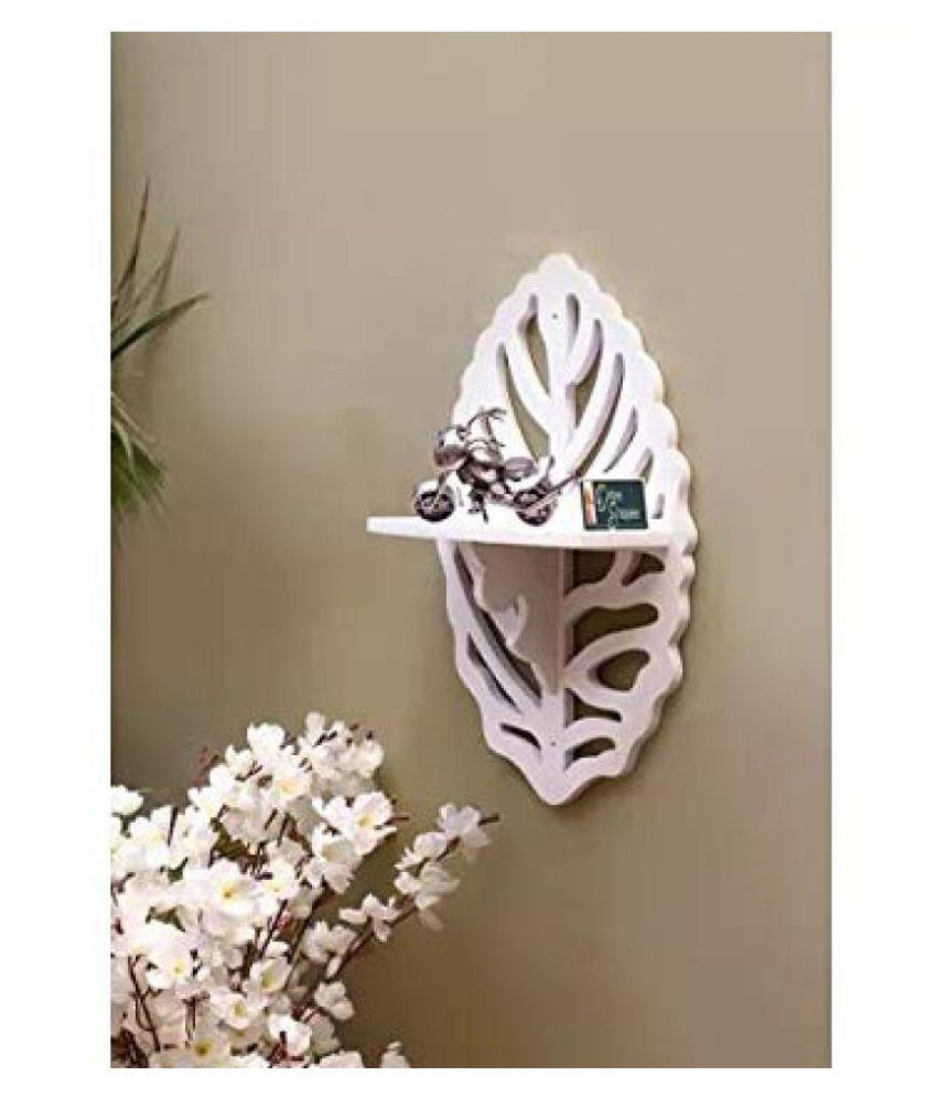 Onlineshoppee Beautiful MDF Decorative Corner Wall Shelf - White