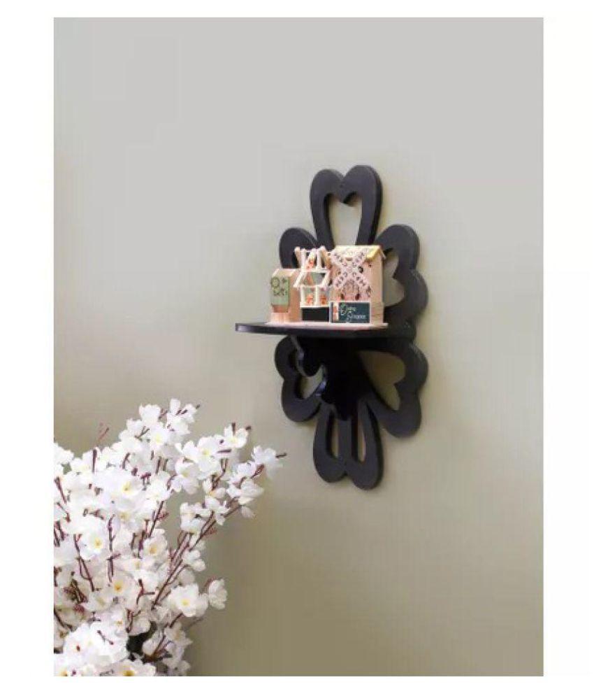 Onlineshoppee Beautiful MDF Decorative Wall Shelf - Black
