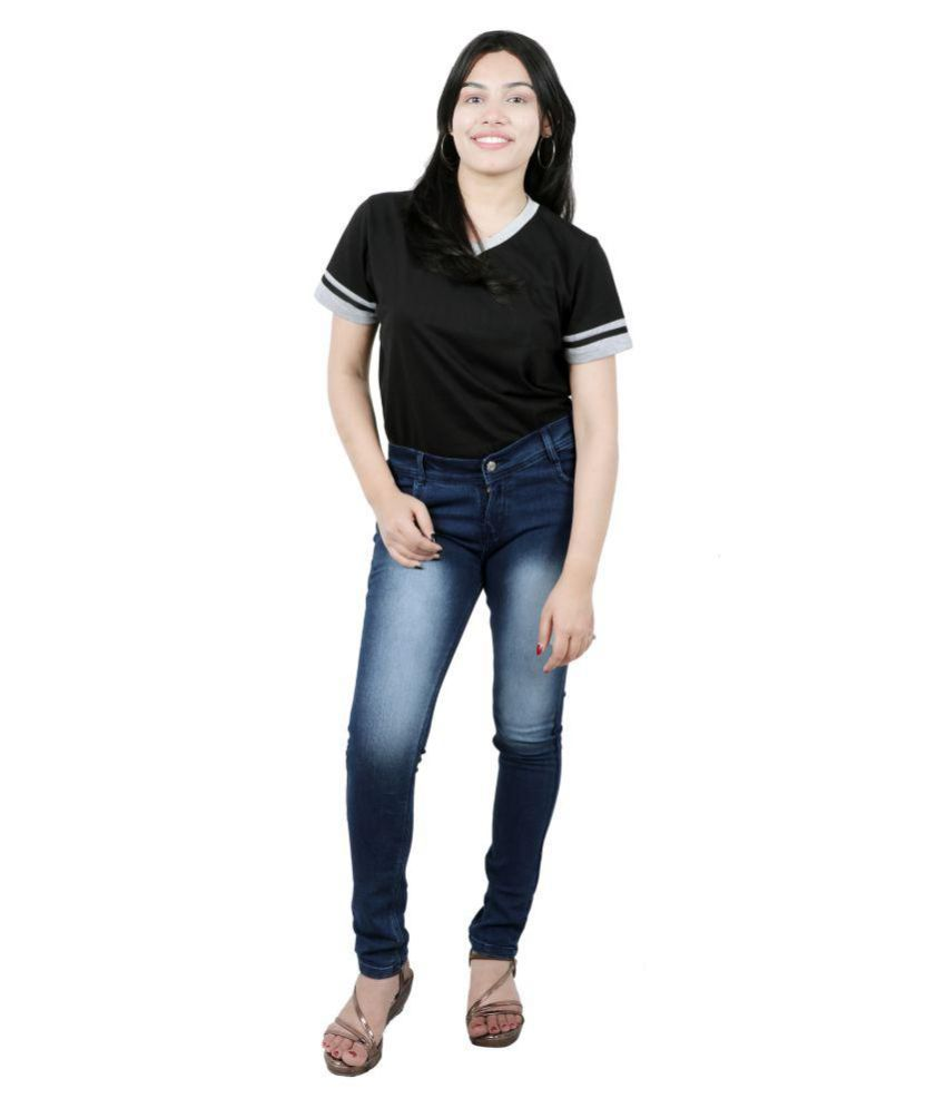 Veerji Denim Lycra Jeans - Blue
