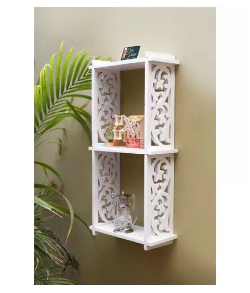 Onlineshoppee Hermosa MDF Unique Design Wall Decor Rack Shelves